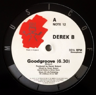 "Derek B - Good Groove (12"") (G/NM)"